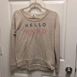 Old Navy Hello Wknd Top